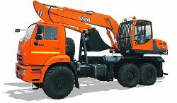 E195А ЭКСКАВАТОР НА АВТОМОБИЛЬНОМ ХОДУ КАМАЗ-43118